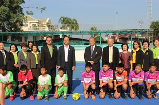 Prototype Rubber Athletics Track Dedication Ceremony at Bangyeekan School