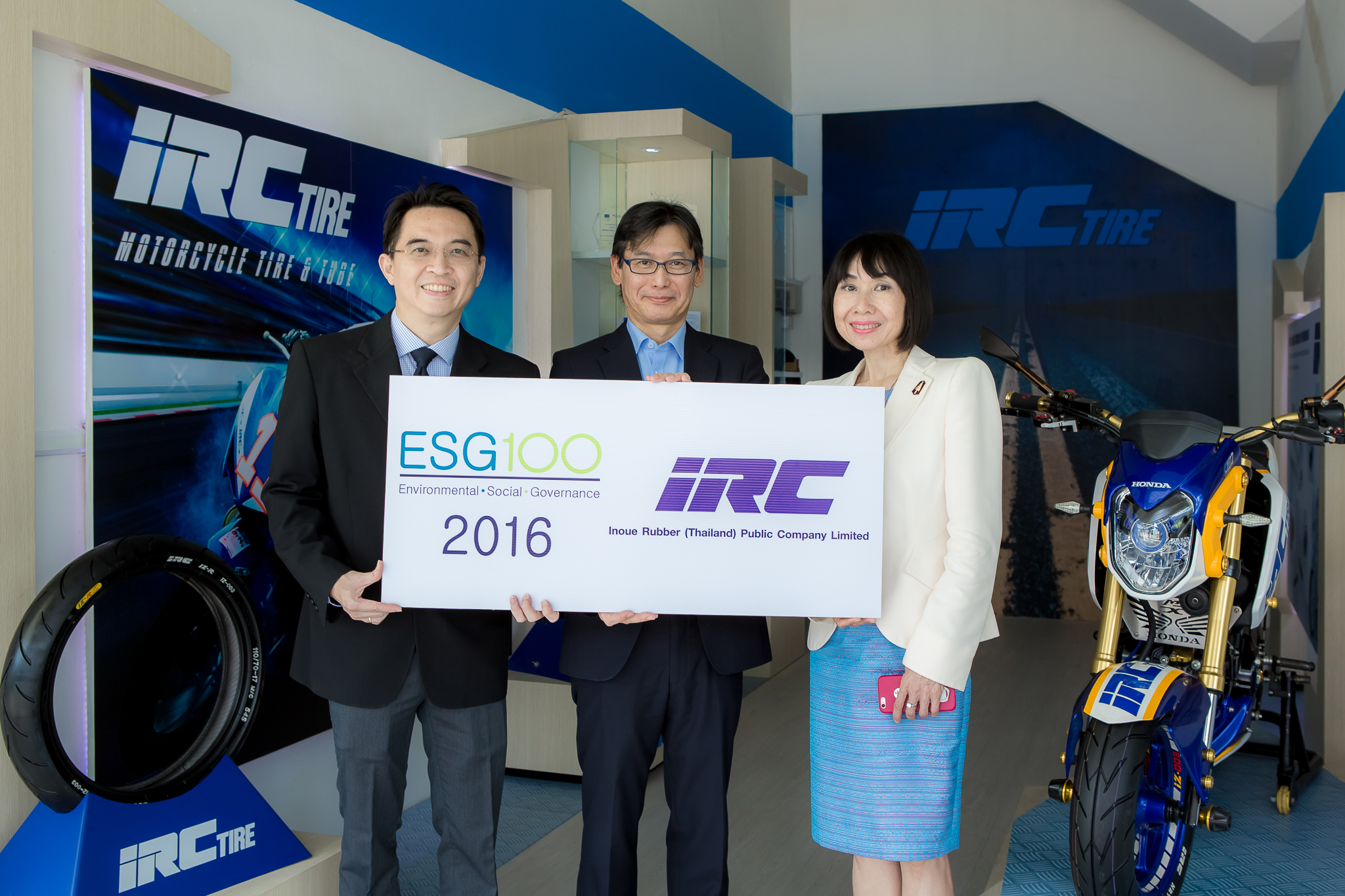 "IRC Received 2016 ""Certificate of ESG100 Company"" Outstanding Company in Sustainability Management"